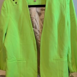 Gibson Latimer Jackets & Coats - Gibson Latimer Neon Green Blazer - Large